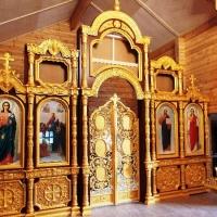 Иконостас для храма Иконы Божией Матери «Знамение» Курско – Коренной в г.Санкт-Петербург.