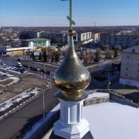 Купол на Храм Рождества Христова города Урюпинск