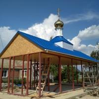 Купол на возрождающийся храм в хуторе Клетская-Почта Серафимовичского района Волгоградской области.