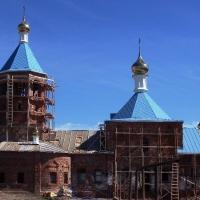 Купола на активно восстанавливаемую церковь Благовещения Пресвятой Богородицы д. Омарский Починок Республики Татарстан