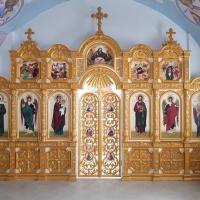Малый иконостас в храм Благовещения Пресвятой Богородицы с. Омары республика Татарстан