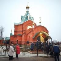 Освящение куполов храма Всех Святых в г. Меленки Владимирской области