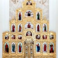 Позолоченный иконостас в п.Рождествено Тульской области